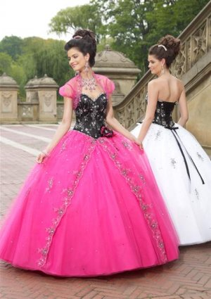 Fashion Lace  Beaded Quinceanera Dress