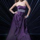 Stunning purple Beaded Evening Gown
