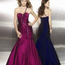 Fashion  one  shoulder  sweatheart beaded  evening dress