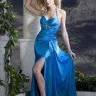 2011  Halter  stunning  low back  beaded evening dress
