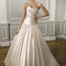 Simple  Ruffle  sweathearet  Bridal  gown