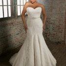 Plus  size  sweatheart  Beaded  Lace  wedding dress