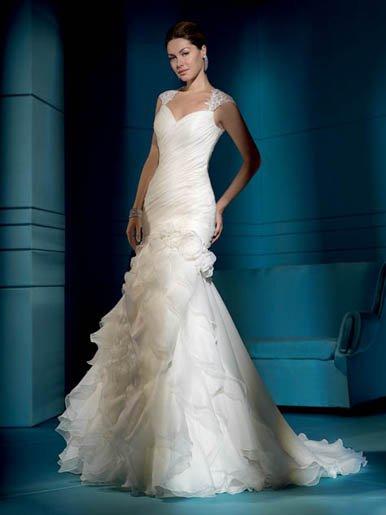 Fanstic  Doulble  straps  Sweatheart  Beaded  wedding dress