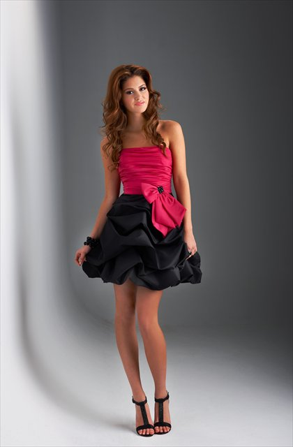 Strapless  Fan-shaped   ball  gown  cocktail dress