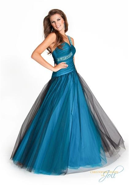 2011  Beaded  Straps  Sweatheart  Neck  A-line  Prom dress