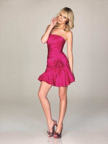 Simple  Ruffle  short  Cocktail  dress