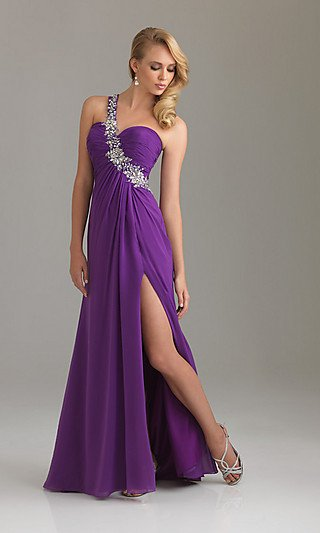 Elegant One Shoulder 2012   Evening dress