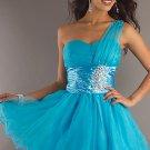 Short One Shoulder Tulle Dress by Dancing Queen