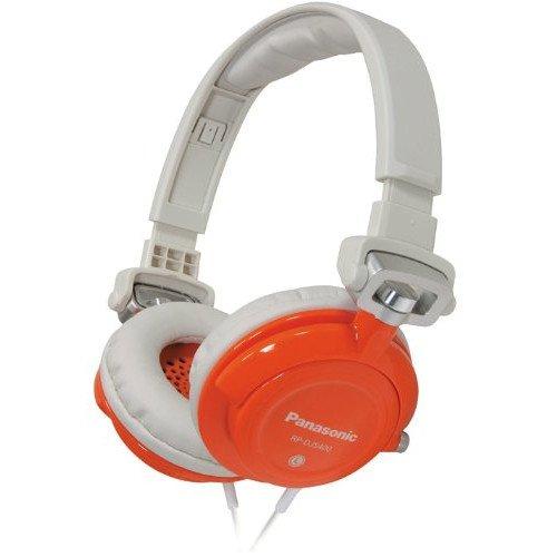 Panasonic RP-DJS400 DJ Street Model Headphones, Orange