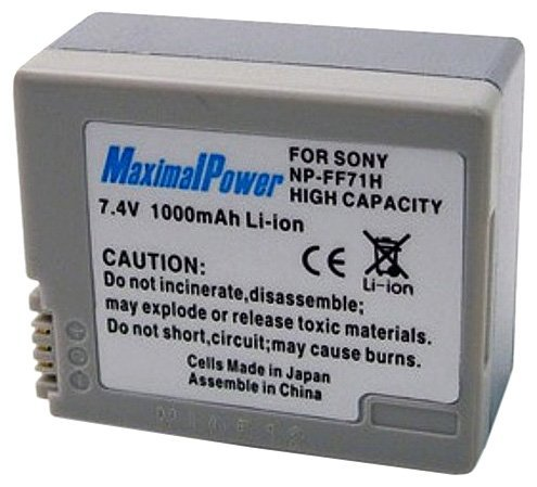 Maximal Power DB SON NP-FF70/FF71 Replacement Battery for Sony Digital Camera Camcorder