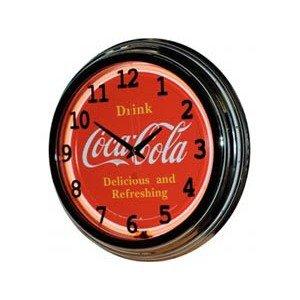 """Coca-Cola 17"""" Drink Coca Cola Neon Clock Plastic Case"""