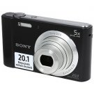 Sony DSC-W800 20.1MP 5x Zoom HD Video Compact Digital Camera Black (Refurbished)