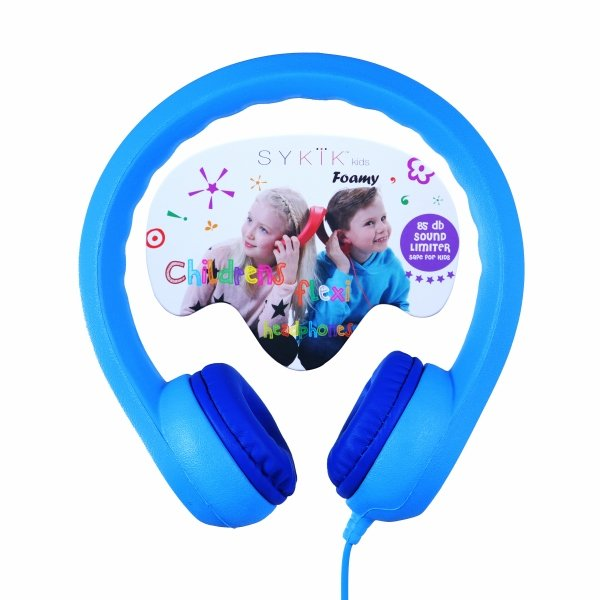 Sykik KDHP126 Foamy Headphones for Kids Blue