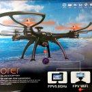 QX11 Explorer R/C Drone Quadcopter FPV WiFi Realtime HD Video Black