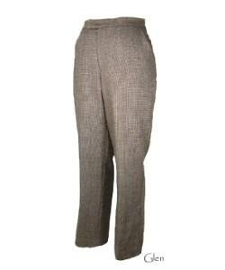 Womens Wool Dress Pants - White Black Check - Size 14