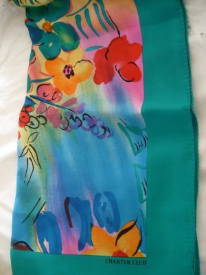 Charter Club Silk Tropical Floral Scarf