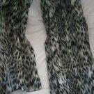 Black Snow Leopard Print Scarf