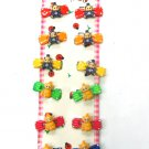 hair accessories baby butterfly clip claw green pink red blue yellow orange 12