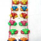 hair accessories owl clip claw green pink red blue yellow orange 12