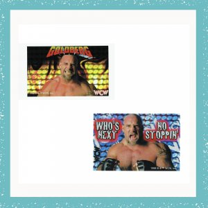WCW, nWo Goldberg Collectible Wrestling Stickers Set of 2