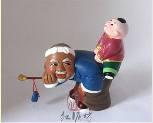 Hand Painted Clay Doll cl66064