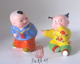 Hand Painted Clay Doll cl66029