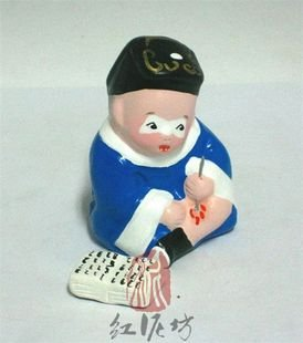 Hand Painted Clay Doll cl86403
