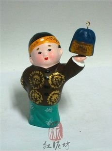 Hand Painted Clay Doll cl86389