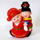 Hand Painted Clay Doll w06048