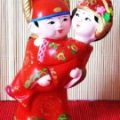 Hand Painted Clay Doll w0836