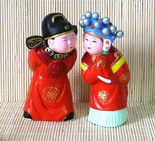 Hand Painted Clay Doll w02020