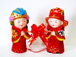 Hand Painted Clay Doll w06017