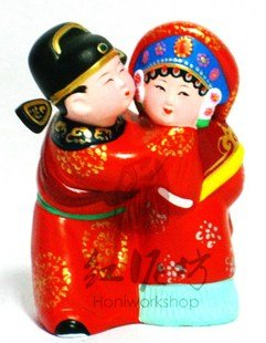 Hand Painted Clay Doll w02083