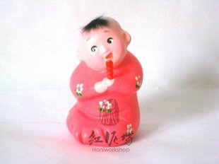 Hand Painted Clay Doll k817