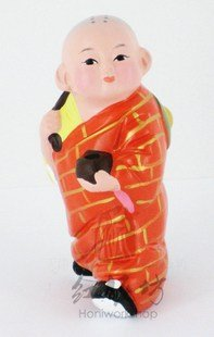Hand Painted Clay Doll k621 little monk
