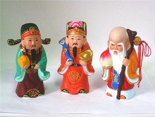Hand Painted Clay Doll b02094