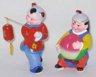 Hand Painted Clay Doll b99021