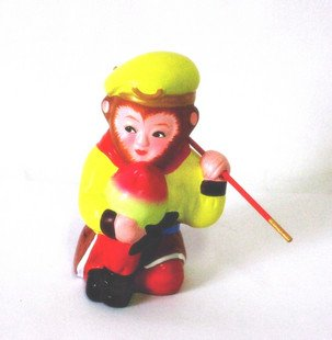 Hand Painted Clay Doll  b99059 cool monkey