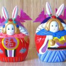 Hand Painted Clay Doll  a96060 rabbit