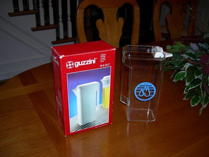 Guzzini Carafe Acrylic Italian Water Pitcher Fridge