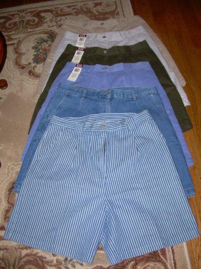 Lot of Bill Blass and St. John's Bay Ladies Shorts Size 16 - Many NWT