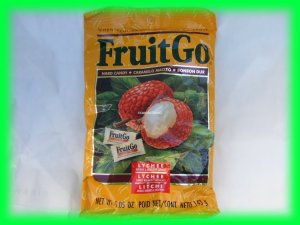 FRUITGO ASIAN LYCHEE FRUIT HARD CANDY - USA SELLER