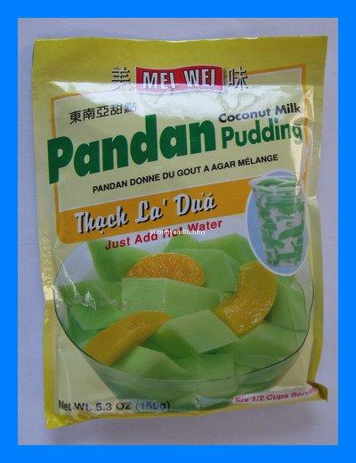 PANDAN COCONUT MILK PUDDING - JUST ADD HOT WATER