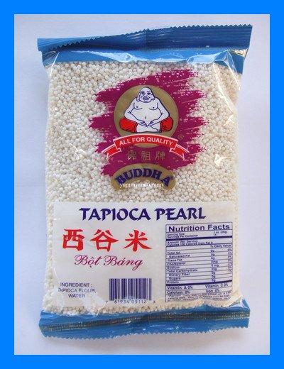 BUDDHA BRAND THAI MINI WHITE TAPIOCA PEARLS - US SELLER