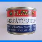 4 CANS FLOWER BRAND PORK LIVER PATE - USA SELLER