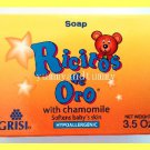 3 BABY SOAP W/ CHAMOMILE - HYPOALLERGENIC, MOISTURIZES & PROTECTS DELICATE SKIN