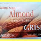 3 BARS NATURAL ALMOND SAOP - NOURISHES & PROTECTS SKIN AGAINST DRYNESS