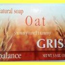 3 BARS NATURAL OAT SOAP - HELPS REGULATE OIL EXCESS, REVITALIZES, MOISTURIZES