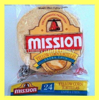 MISSION YELLOW CORN TORTILLAS EXTRA THIN, PREMIUM QUALITY, NO CHOLESTEROL
