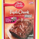 BETTY CROCKER TRIPLE CHUNK PREMIUM BROWNIE MIX WITH HERSHEY'S CHIPS & CHUNKS